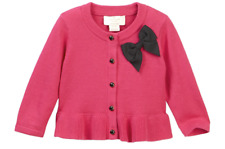 Kate Spade Baby Girls Pink Peplum Button Up Cardigan Bow Accent NEW Tags 12month