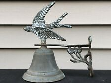 Vintage Metal Bell With Bird ~ Porch Wall Mount