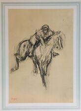 DEGAS Edgar 1923 LITHOGRAPHIE 'Jockey'