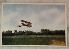 US Biplane Scouting Flight Mexican Border Postcard Scott City, KS