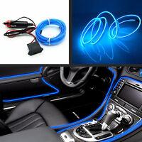 Car 12V 2 Meter Embedded Car Interior Neon Adjust Atmosphere Lights EL Wire Blue