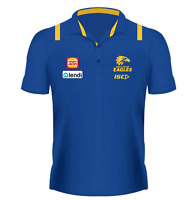 West Coast Eagles 2020 Media Polo Sizes Small - 5XL Royal/Gold AFL ISC