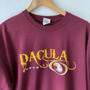 Gildan T-Shirt Size XL Burgundy Red USA Dacula Softball Team Eagle Graphic Print