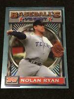* VERY RARE * 1993 Topps Finest Baseball NOLAN RYAN #d 1/5000, Texas Ranger HOF