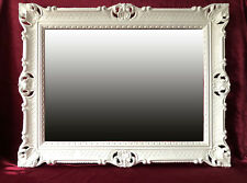 Miroir mural blanc décoration ANTIQUE BAROQUE ROCOCO 90x70 mirroir pour coiffage