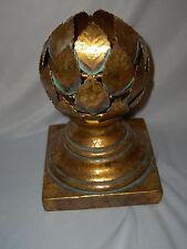 Vintage gold Leaf Artichoke Candle Holder Dept 56 NICE