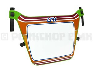 """Air-Uni old school BMX Number Plate from 1980's molds - XL """"PORK PLATE"""" - GREEN"""