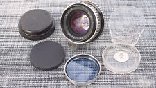 Carl Zeiss Jena Biometar 80mm f/2.8 Pentacon 6 Zebra Lens w Filter CLA Nice Work
