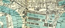 1946 Map LONDON CENTRAL Street Plan NOTTING HILL Blackwall WESTMINSTER Southwark