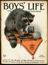 "BOYS' LIFE, THE BOY SCOUTS' MAGAZINE, Apr. 1918, ""Mystery of Ram Island"" by Ames"