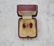 ❤❤❤  Antike Ohrringe aus Silber 800 mit Schmuckstein - Jugendstil  ❤❤❤ (# 7554)