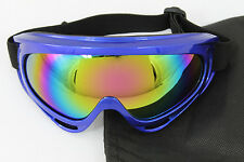 Youth Motorcycle ATV DIRT BIKE RACING SKI GOGGLES Color Lens Glasses 526BL