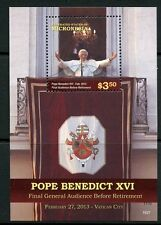 MICRONESIA 2015 POPE BENEDICT XVI RETIREMENT   SOUVENIR SHEET MINT NH