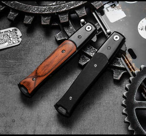 Tactical Folding Pocket Knife High Hardness Survival Camping  Steel Tool Knives