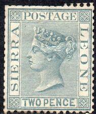 1884 Sierra Leone Sg 30 2d grey Mounted Mint