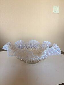 Fenton White Opalescent Hobnail Bowl