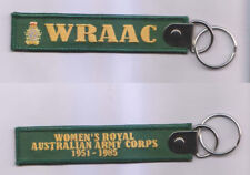WOMEN'S ROYAL AUSTRALIAN ARMY CORPS (WRAAC) 1951 - 1985 KEY TAG WITH RING