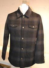 Utex Men's Plaid Button Down Jacket-BLUE & GRAY-MEDIUM-NWT