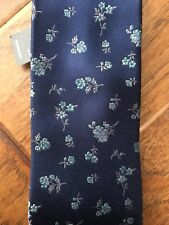 Express Mens Floral Print Tie Blue Background MSRP $49.90