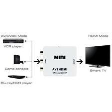 RCA AV To HDMI HDTV Converter For Nintendo SNES NES N64 Gamecube Sega Genesis