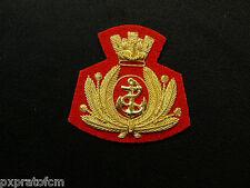 Fregio da Basco Reggimento San Marco Ricamato a Mano in Canottiglia Panno Rosso