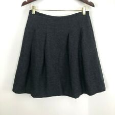 Madewell Women's Size 8 Wool Blend Pleated A Line Skirt Gray