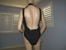 Bebe BLK Sexy Open Back Bodysuit Top NWT$59~L~Only One~