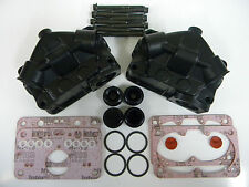 Holley QFT AED CCS 4150 4500 Black Nitroplate Aluminum Float Bowl Kit  Dual Inle