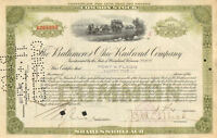 POST & FLAGG issued collectible stock certificate share