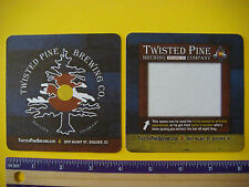 Beer Coaster Bar Mat w/ Note Space ~*~ TWISTED PINE Brewing >< Boulder, COLORADO