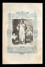 santino incisione 1800 S.BRUNO DI COLONIA