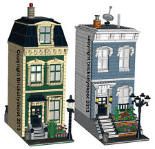 2 Lego Custom Modular Buildings - City Residential Pack #4 - INSTRUCTIONS ONLY