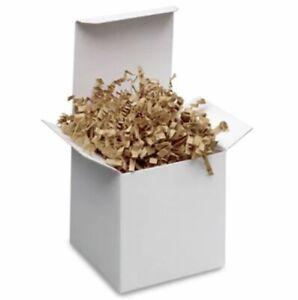 Crinkle Cut Paper Shred Gift Basket Filler White Iridescent Blend 4, 8 or 16 oz
