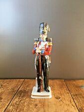 RARE SITZENDORF QUALITY PORCELAIN MODEL SOLDIER GRENADIER GUARDS 1853 FIGURINE