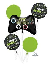 Next Level Epic Gamer Birthday Party Favor Supplies Foil Balloons Bouquet