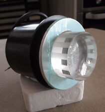 HIB Round White LED Glass Brick Light Brushed Chrome Downlight Shower Light IP65