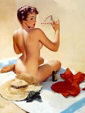 Sexy Beech Pin Up Girl Plaque Retro Art  printed metal sign vintage sign tin