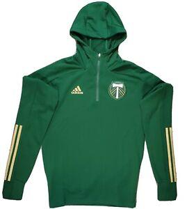 Adidas Portland Timbers Travel Jacket Mens Size Small FI1531 Ponderosa Ret $75