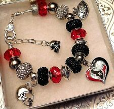 NFL HOUSTON TEXANS Crystal Charm Bracelet     J.J. Watts    FREE SHIPPING!!!