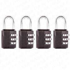 4 x BLACK 30mm MINI COMBINATION PADLOCK Travel Luggage/Suitcase Security Lock