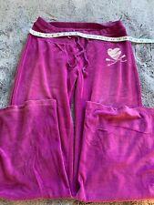 Joe by Joe Boxer Women's Velvet Sweatpants size L Purple