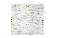 Mosaikmatte Mosaikfliesen Mosaik Brick Splitface weiß 3D klein matt 305 x 305 mm