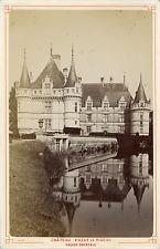 France, Azay-le-Rideau, le Château, la Façade Orientale  Vintage albumin print
