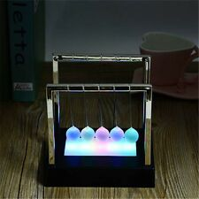 Newtons Cradle LED Light Up Kinetic Energy Home Decor Office Home Science Toys