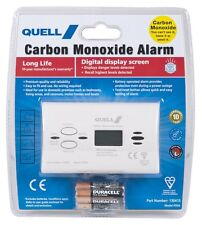 Quell Carbon Monoxide Detector Digital Display Alarm With No Wiring Model Pd04