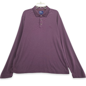 TOMMY BAHAMA Men's Long Sleeve Polo Shirt Size L Large Purple