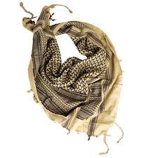 Plo Pañuelo cuello chal Palestina cabeza Shemagh arena / negro bufanda