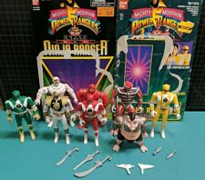 Mighty Morphin Power Rangers figures Auto Morph Fliphead Lot of 8 1993 Bandai