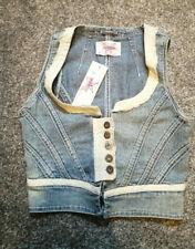SugarBebe Ladies  Denim Crop  Waistcoat size 10 BNWTS