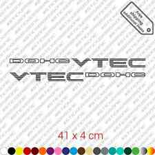 2x DOHC VTEC sticker decal vinyl Honda Civic Si B16 JDM restoration kit - Black